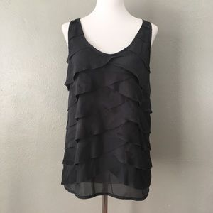 The Limited Front Layered Tank Top Dark Grey